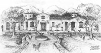 Design Renderings of Spanish Colonial Revival homes in Santa Barbara and Montecito